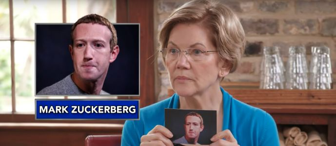 Elizabeth Warren roasts Jeff Bezos, Bill Gates, and Mark Zuckerberg in a game of 'Guess the Billionaire' on 'The Late Show with Stephen Colbert'