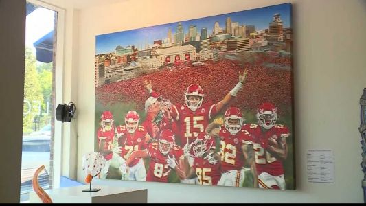 Mural celebrating Chiefs' Super Bowl win now complete