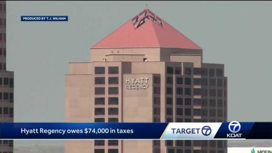 Hyatt Regency in downtown Albuquerque remains closed; owes taxes