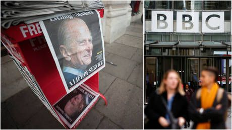'Ridiculously over the top': BBC creates special complaint form as viewers decry 'too much coverage' of Prince Philip death