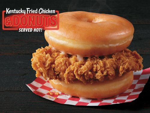 KFC is serving fried chicken sandwiched between two glazed donuts at dozens of locations, and people are freaking out