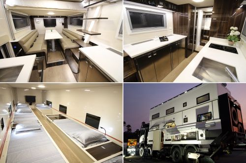 This road-tripping family travels in massive mansion on wheels