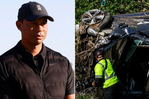 Mystery man was first to find an unconscious Tiger Woods after rollover crash