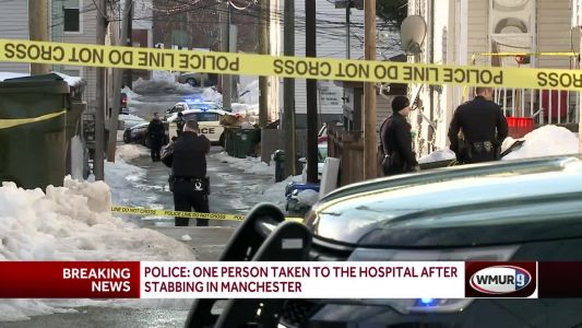 Police: 1 person taken to hospital after stabbing in Manchester