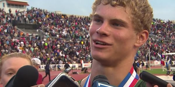 The high school sprinter putting up Olympic-level times has accepted an NFL wide receiver's open challenge to a $10,000 race