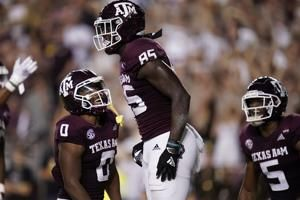 Wydermyer scores twice as No. 17 A&M routs Gamecocks 44-14