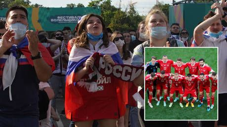 Back in business: Joy for Russia as Aleksei Miranchuk's stunning strike earns first win at Euro 2020 in nervy victory over Finland