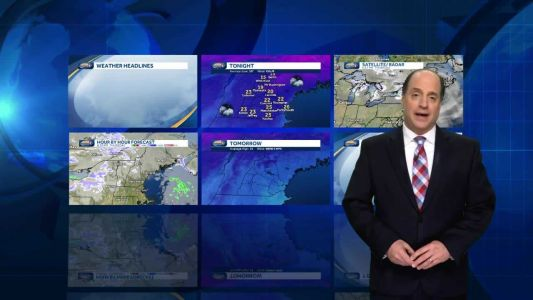 Watch: Snow showers overnight before milder Friday