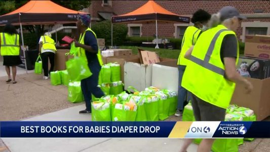 Free diapers, baby book bundles gifted to families in need