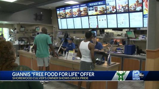 Shorewood Culver's offers Giannis free food for life, Greek owner resonates with MVP