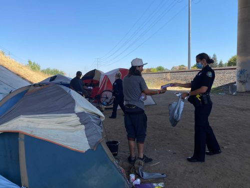 California town pays homeless community to clean their encampment sites