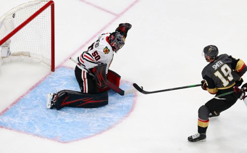 Golden Knights show their might in a Game 1 win over the Blackhawks
