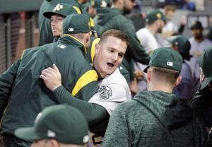 Athletics clinch playoff berth with Rays' loss to Yankees