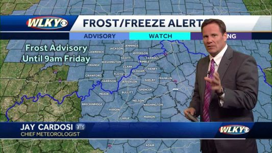 Frost possible before warm-up