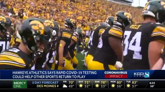 Hawkeyes hope rapid testing will bring winter sports back to action