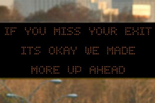 Georgia warns motorists with sassy messages