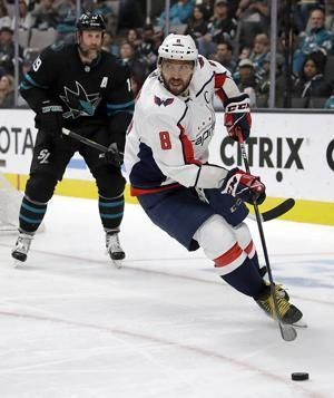 Ovechkin scores NHL-leading 39th as Capitals beat Sharks 5-1