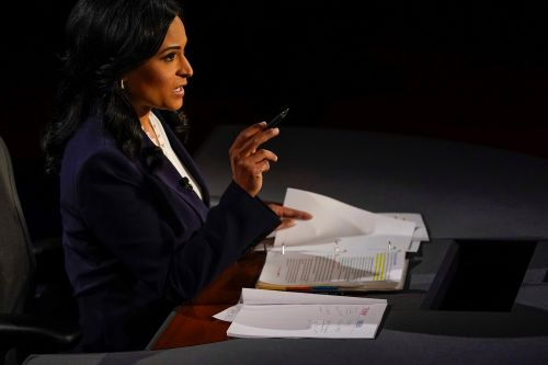 Trump compliments Kristen Welker on moderating presidential debate