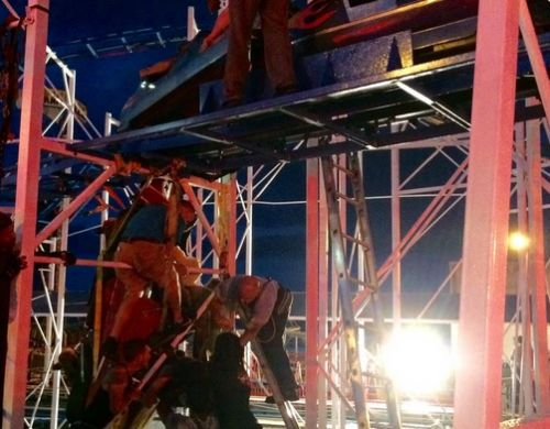 Roller coaster derails on boardwalk in Florida; rescue efforts underway