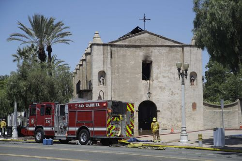 Fire destroys much of 249-year-old church in California