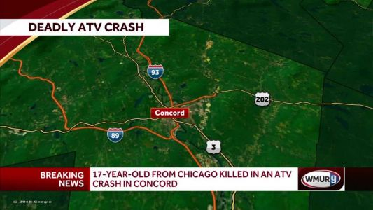 17-year-old boy killed in ATV crash in Concord