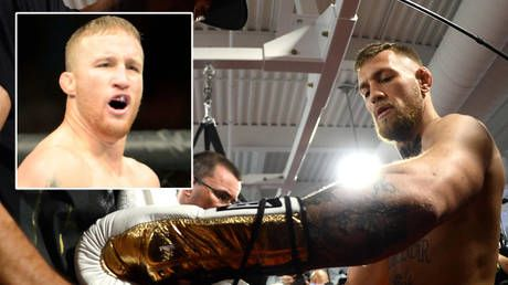 The gloves are off: Conor McGregor threatens to 'smoke' Justin Gaethje & coach after rival attacks his 'cheap garbage' ringwear