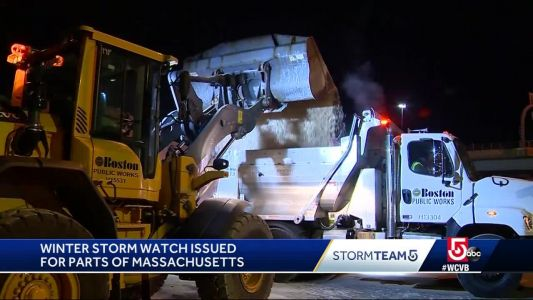 It's happening: Boston gets salt trucks ready ahead of Nor'easter