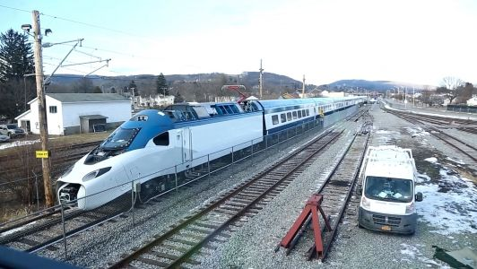 Amtrak shows its sleek new Acela train in action for the first time