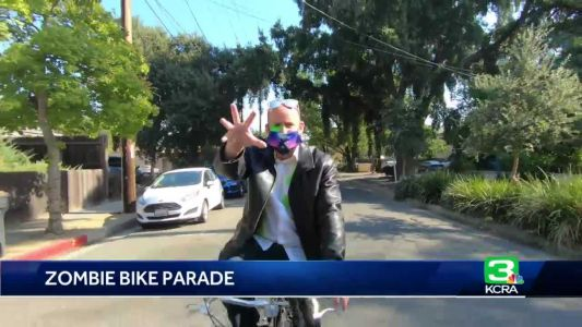 Zombie bike parade in Davis aims to help children with special needs
