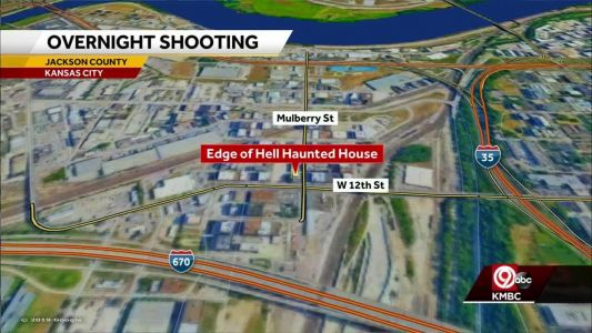 Overnight shooting near popular KC haunted house injures two