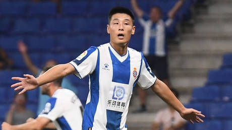Wu-hoo! Espanyol's Lei becomes 1st Chinese player to score in European competition