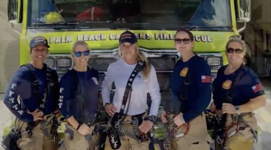 'Women can do it, too': First-ever all-female fire crew makes history