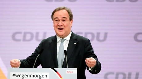 Germany's ruling party picks centrist Armin Laschet as its new leader