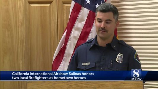 2 firefighters honored with airshow rides for their heroism