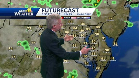 One more nice day before chances for storms increase