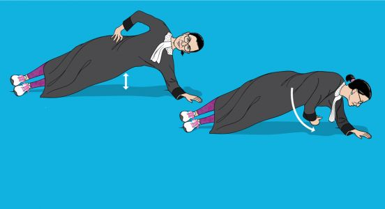 I Did Ruth Bader Ginsburg's Workout. It Nearly Broke Me