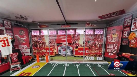 California couple converts garage into ultimate Chiefs shrine