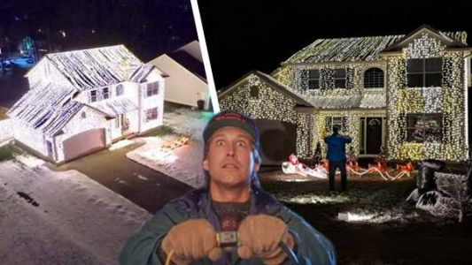 This home's Christmas decorations were inspired by Clark Griswold himself