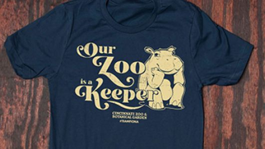 Cincinnati Zoo sells 'Our Zoo is a Keeper' shirts for its emergency operating fund
