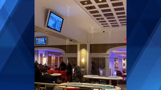 Video shows water leaking from roof of Encore Boston Harbor onto poker tables