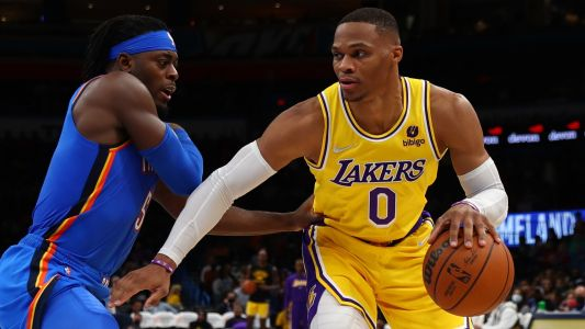 Russell Westbrook's ejection and quadruple-double with turnovers headline return to Oklahoma City as a Laker