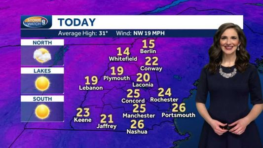 Watch: Windy and cold today