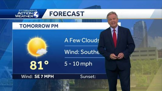 Sunny with high temps in the 80s on Friday