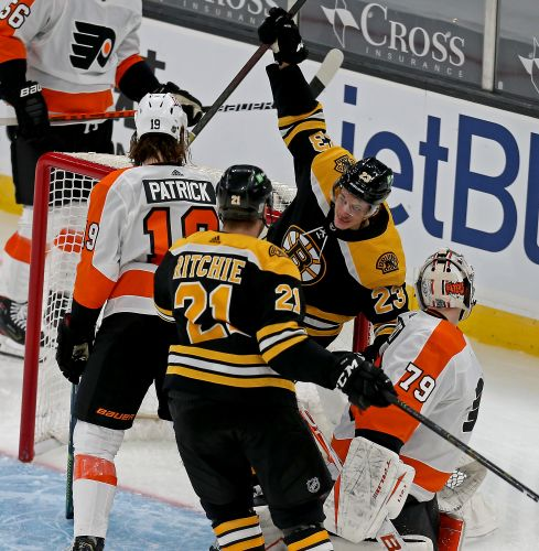 Gallery: Bruins home opener win shootout against Flyers