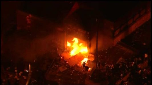 Minneapolis police precinct on fire as protests grow