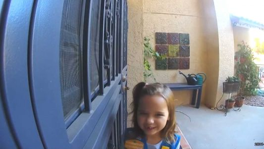 WATCH: Girl Scout has irresistible cookie sales pitch for neighbor via doorbell cam