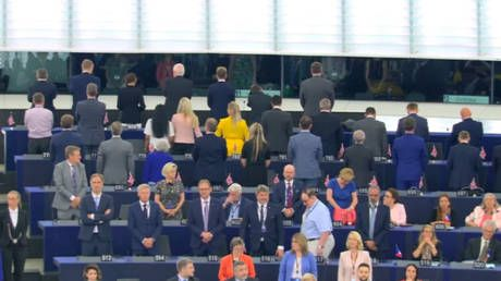 Farage's Brexit Party MEPs turn their backs on EU Parliament opening ceremony