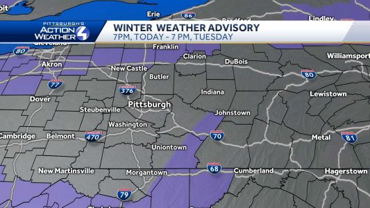 Winter weather advisory for multiple counties ahead of expected wintry mix, snow