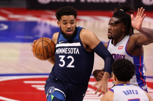Towns, Edwards Lead Wolves Past Undermanned Pistons In 119-100 Win