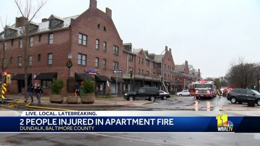 2 injured in Dundalk apartment fire